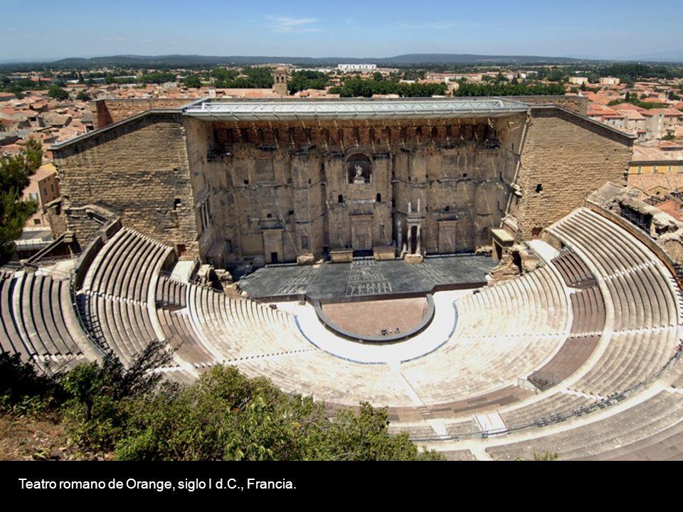 Teatro de Aspendos, siglo II a.C., Antalya, TurquíaTeatro romano de Orange, siglo I d.C., Francia.
