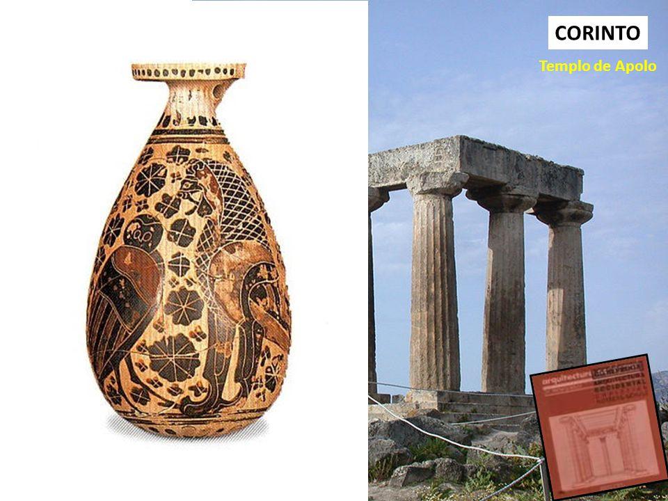 CORINTO Templo de Apolo La arquitectura es un fenómeno concreto. Consiste en paisajes y asentamientos, edificios y articulaciones caracterizadoras, y