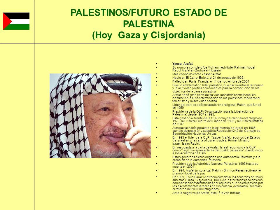 Yasser Arafat Su nombre completo fue Mohammed Abdel Rahman Abdel Raouf Arafat al-Qudwa al-Husseini Mas conocido como Yasser Arafat Nació en El Cairo,