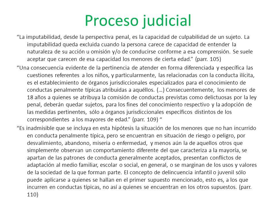 Proceso judicial La imputabilidad, desde la perspectiva penal, es la capacidad de culpabilidad de un sujeto. La imputabilidad queda excluida cuando la