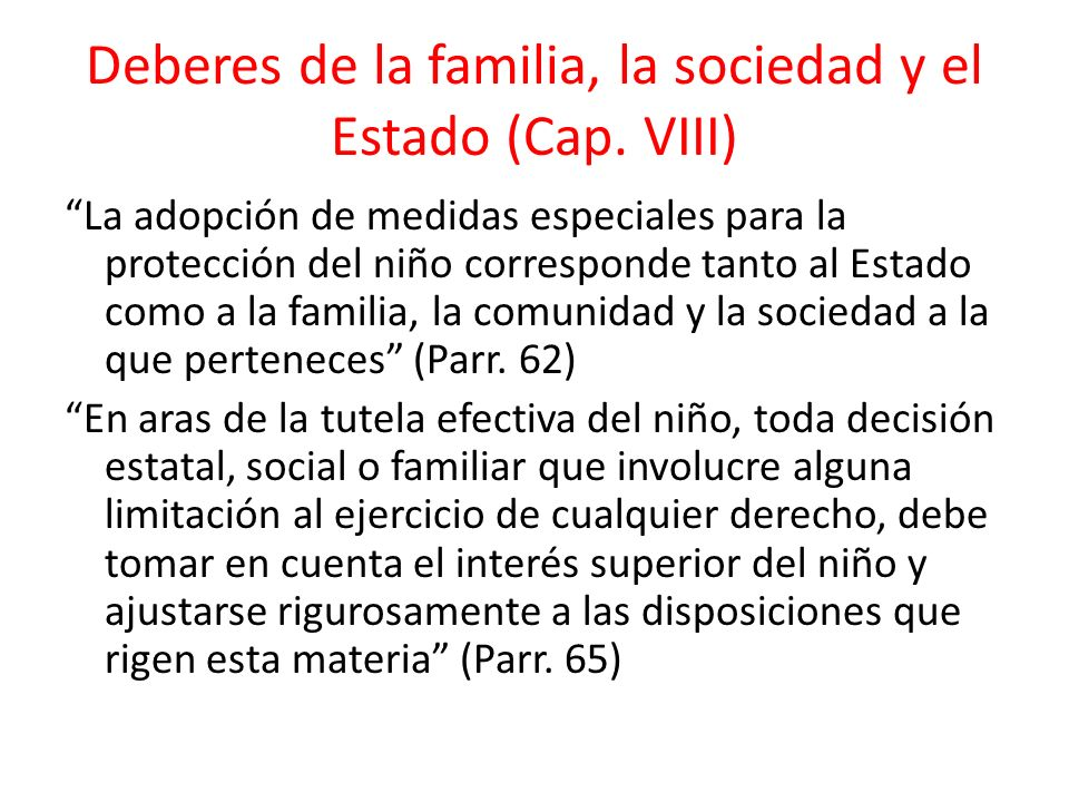 Familia como núcleo central de protección.