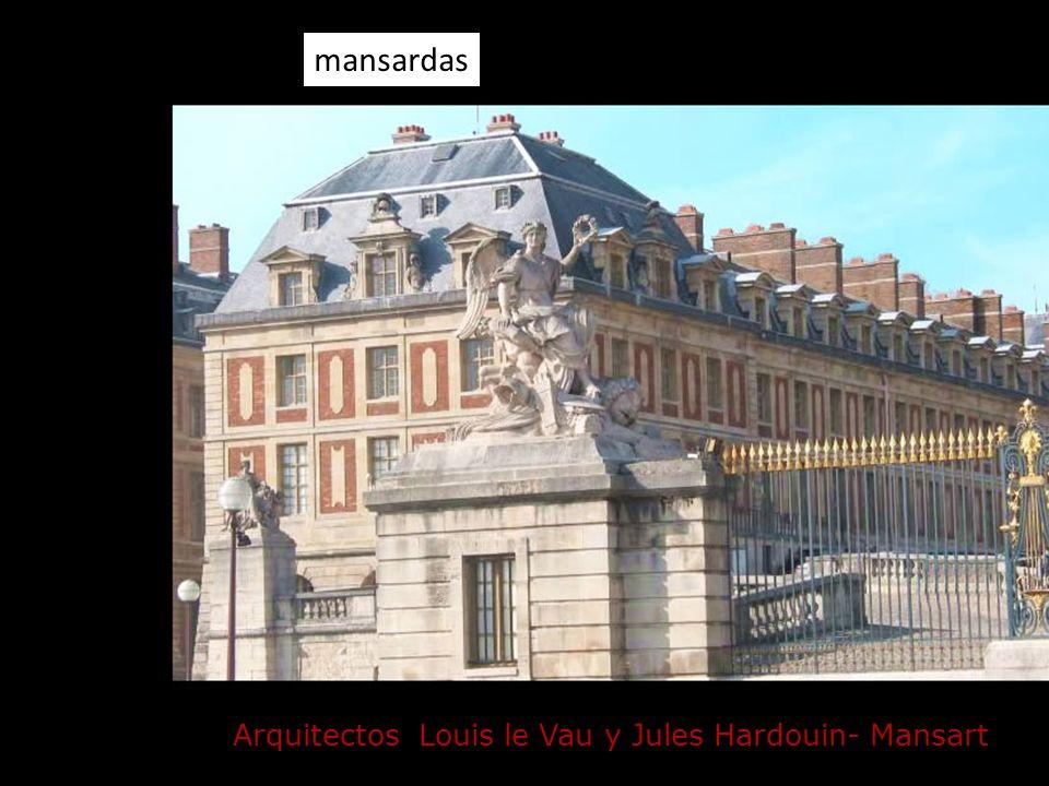 Arquitectos Louis le Vau y Jules Hardouin- Mansart mansardas