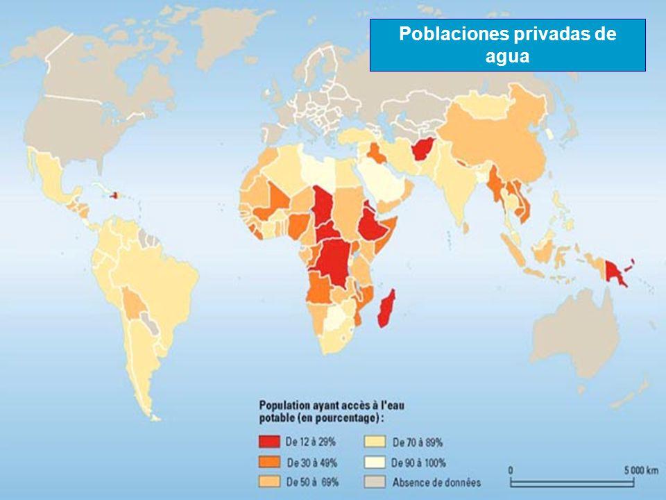 Poblaciones privadas de agua