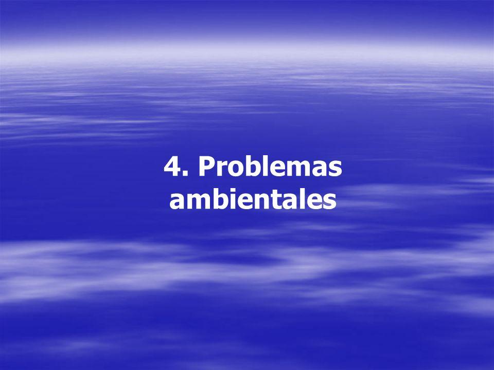 4. Problemas ambientales