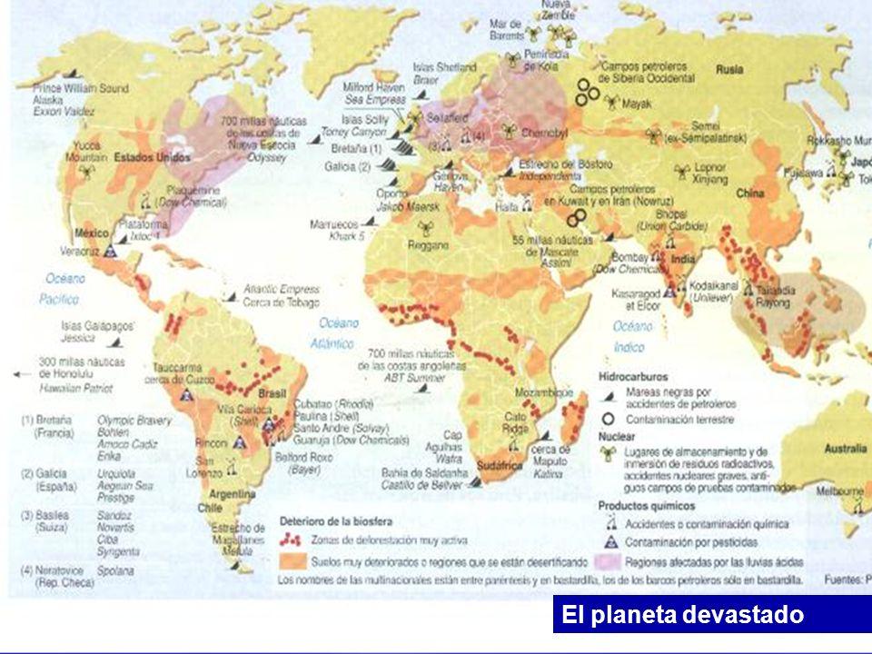 El planeta devastado