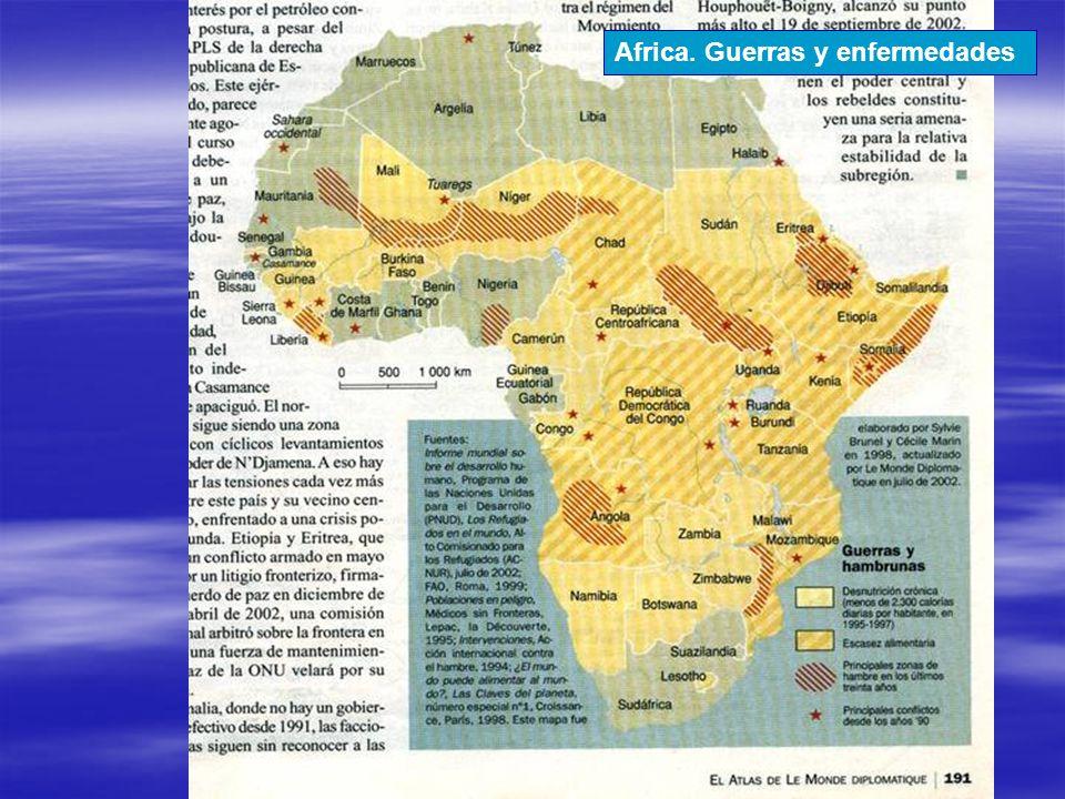 Africa. Guerras y enfermedades