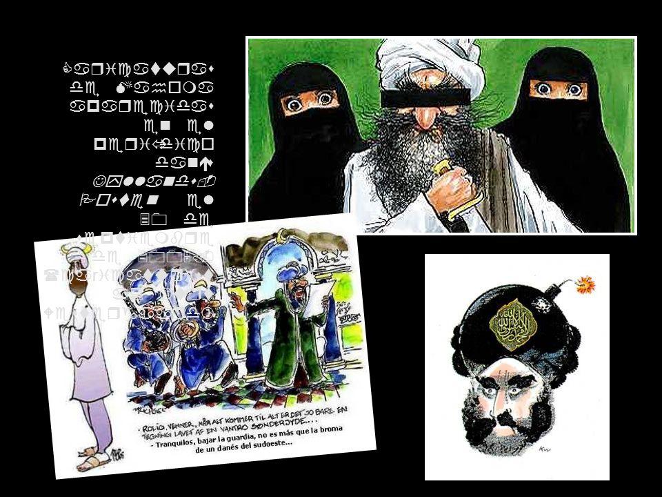 Caricaturas de Mahoma aparecidas en el periódico danés Jyllands- Posten el 30 de septiembre de 2005.