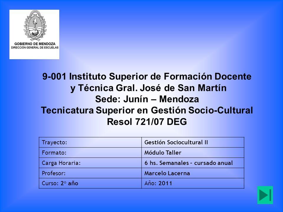 9-001 Instituto Superior de Formación Docente y Técnica Gral.