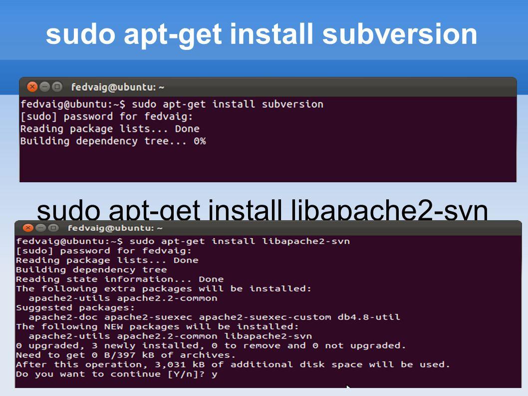 Creación de un repositorio Subversion requiere la creación de un repositorio que albergará las distintas versiones de la estructura de directorio que se quiere controlar.