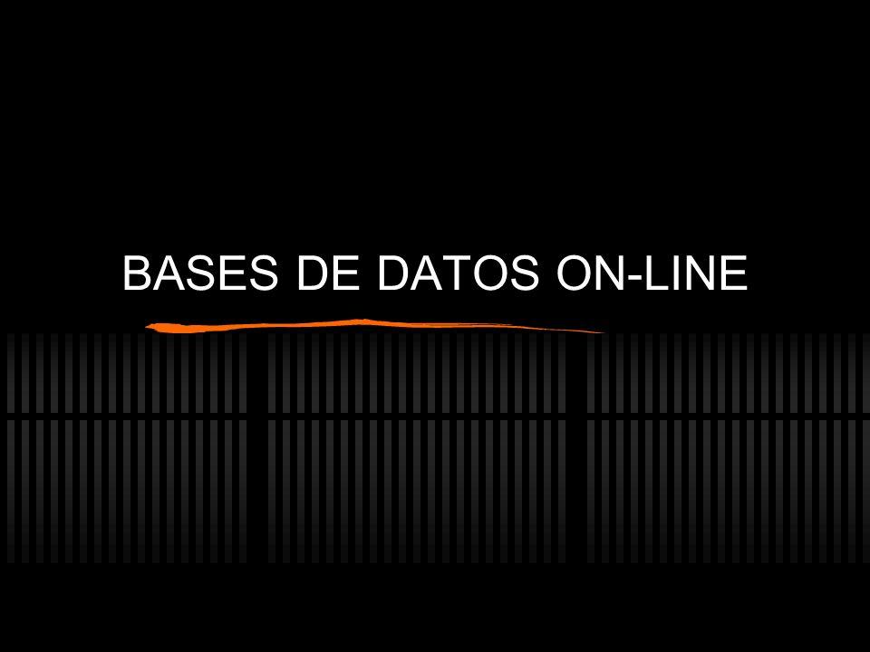 BASES DE DATOS ON-LINE