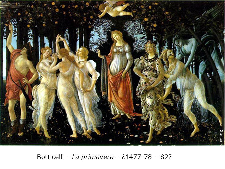 Botticelli El nacimiento de Venus 1482