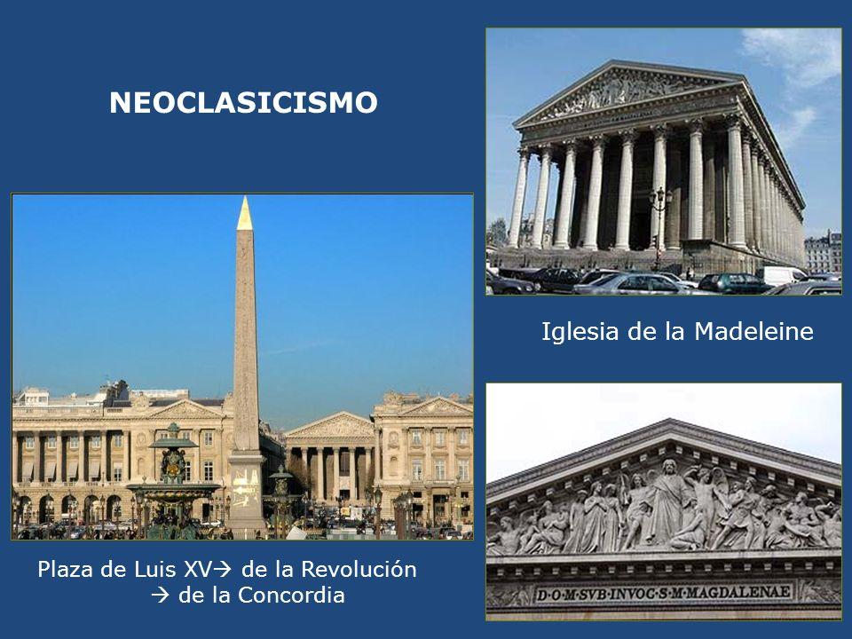 Plaza de Luis XV de la Revolución de la Concordia Iglesia de la Madeleine NEOCLASICISMO