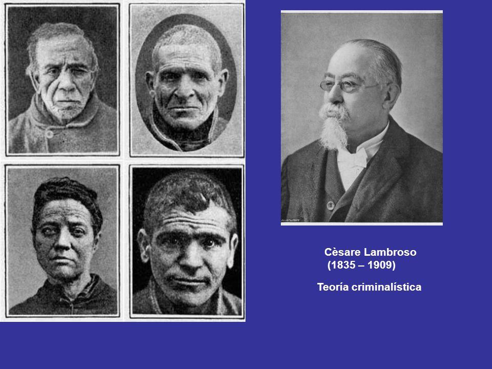 Cèsare Lambroso (1835 – 1909) Teoría criminalística