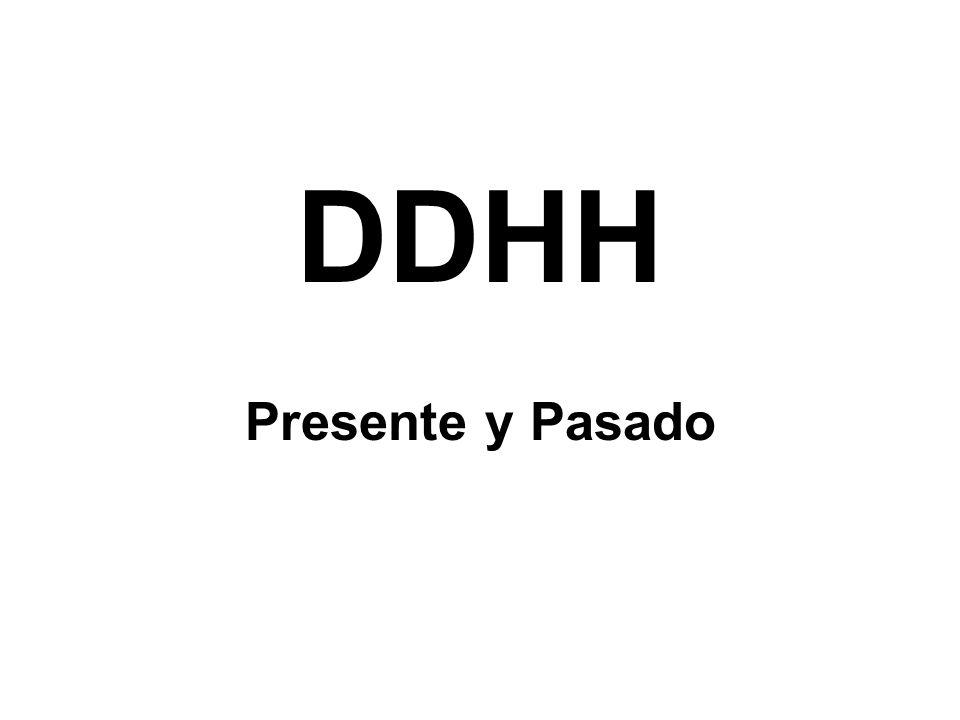 DDHH Presente y Pasado