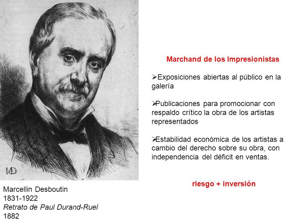 Marcellin Desboutin 1831-1922 Retrato de Paul Durand-Ruel 1882 Marchand de los Impresionistas Exposiciones abiertas al público en la galería Publicaci