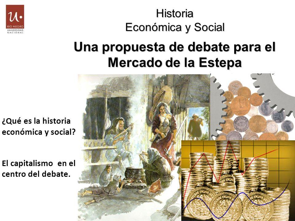 Historia Económica y Social Una propuesta de debate para el Mercado de la Estepa ¿Qué es la historia económica y social? El capitalismo en el centro d