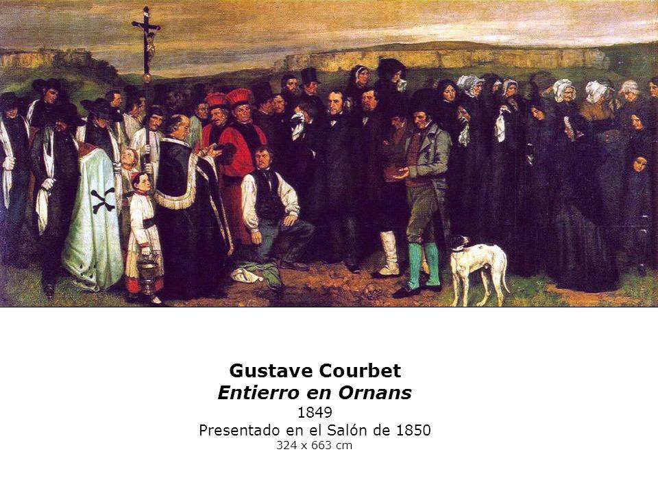 Gustave Courbet Entierro en Ornans 1849 Presentado en el Salón de 1850 324 x 663 cm
