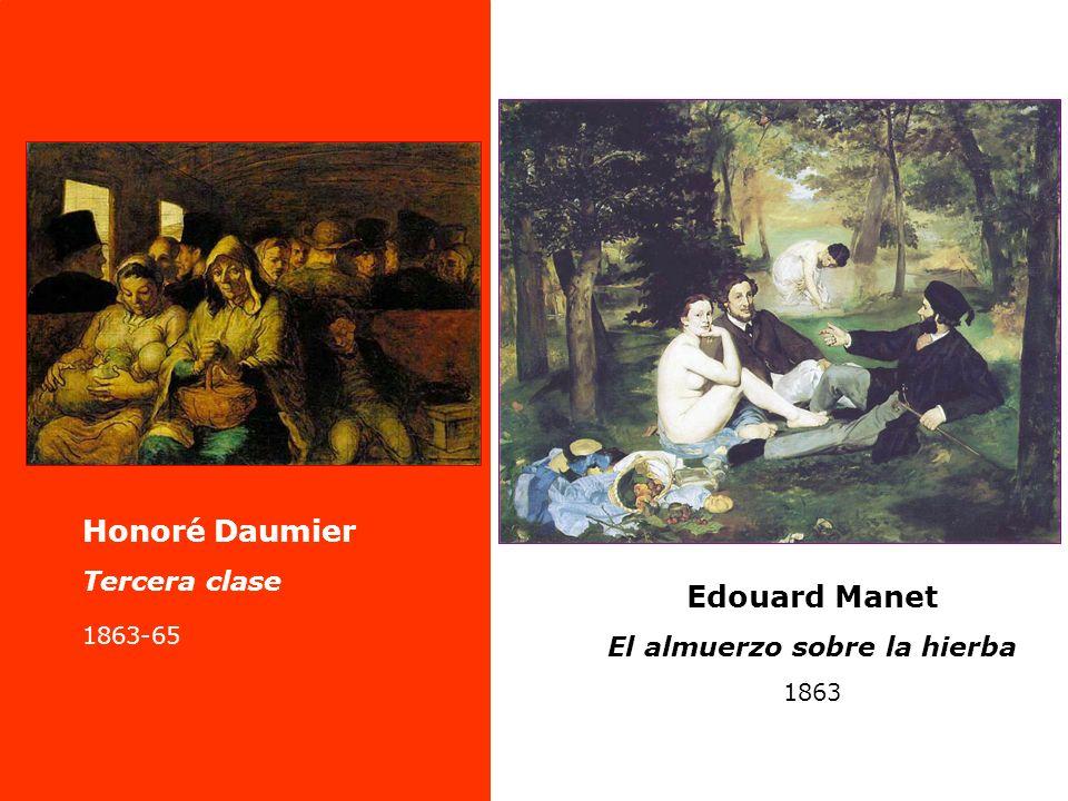 Edouard Manet El almuerzo sobre la hierba 1863 Honoré Daumier Tercera clase 1863-65