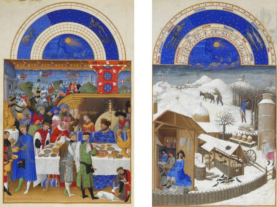 Hermanos Limbourg Las muy ricas horas del Duque de Berry 1412-1416 22,5 x 13,6 cm Iluminación sobre pergamino Jan Van Eyck (1390-1441) La Virgen del Canciller Rolin 1435 66 x 62 cm.