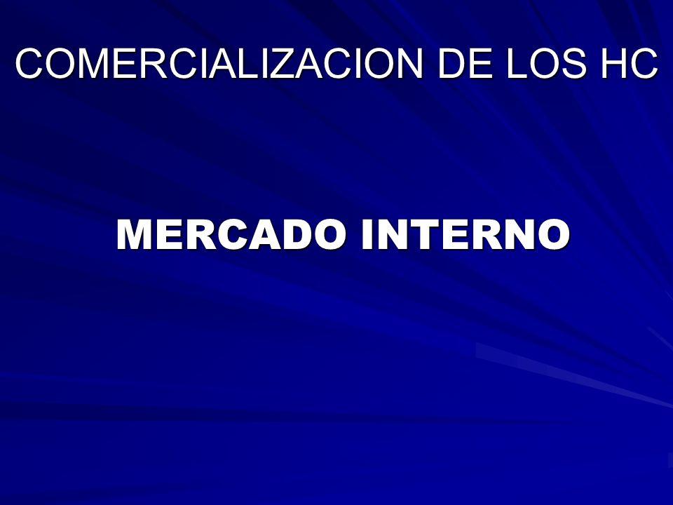 COMERCIALIZACION DE LOS HC MERCADO INTERNO MERCADO INTERNO
