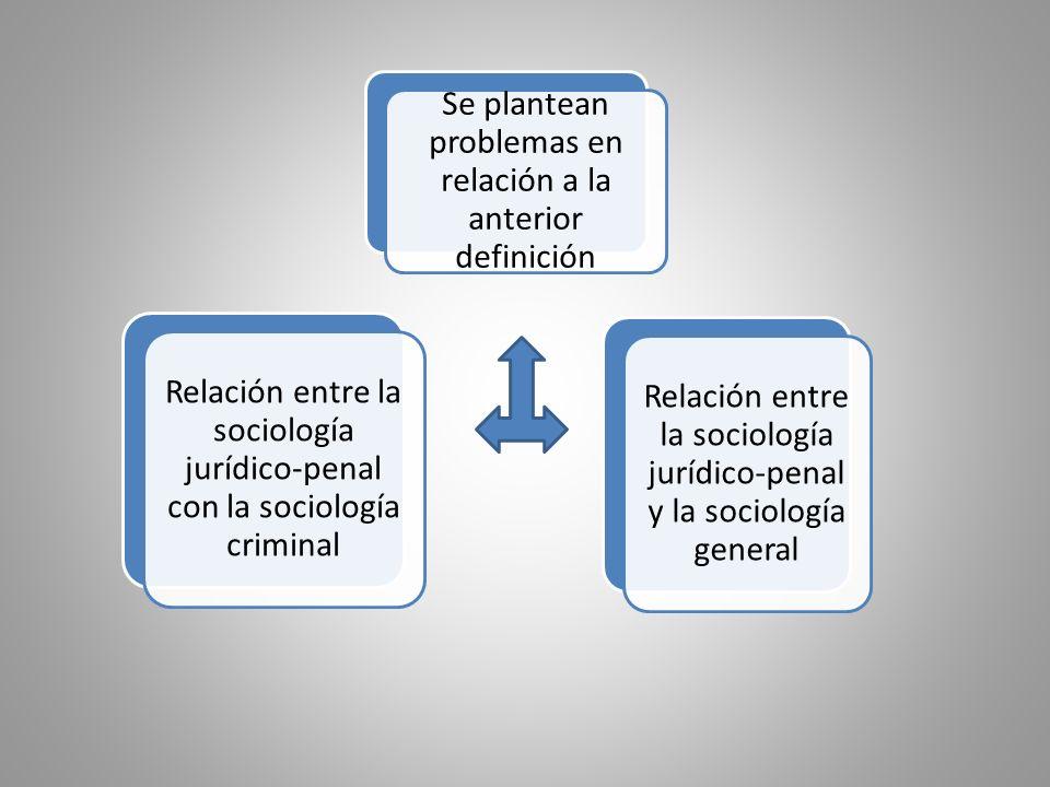 Estudia el comportamiento desviado con significación penal, su génesis y su función dentro de la estructura social Estudia propiamente los comportamientos que representan una reacción ante el comportamiento desviado, los factores condicionantes y los efectos de esta reacción, así como las implicancias funcionales de la misma respecto de la ett social global SOCIOLOGÍA CRIMINAL SOCIOLOGÍA JURIDICO-PENAL Aún reconociendo esta delimitación, los límites se sobreponen necesariamente en lo que se refiere a la noción, constitución y función de la desviación, que pueden ubicarse en conexión estrecha con la función y los efectos estigmatizantes de la reacción social, tanto institucional como no institucional