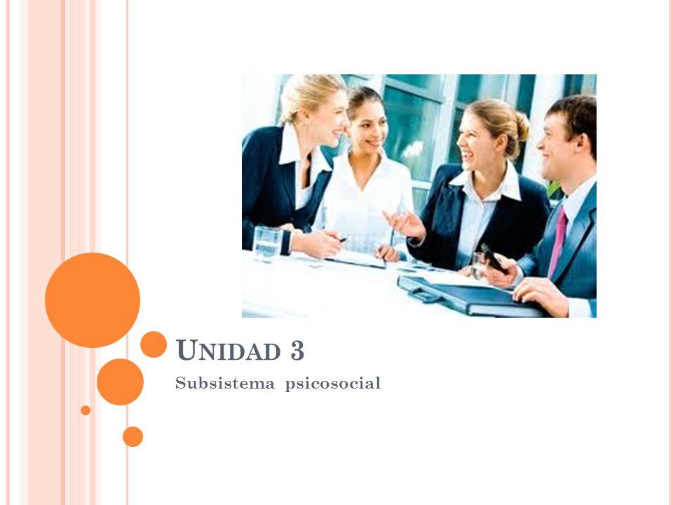 U NIDAD 3 Subsistema psicosocial