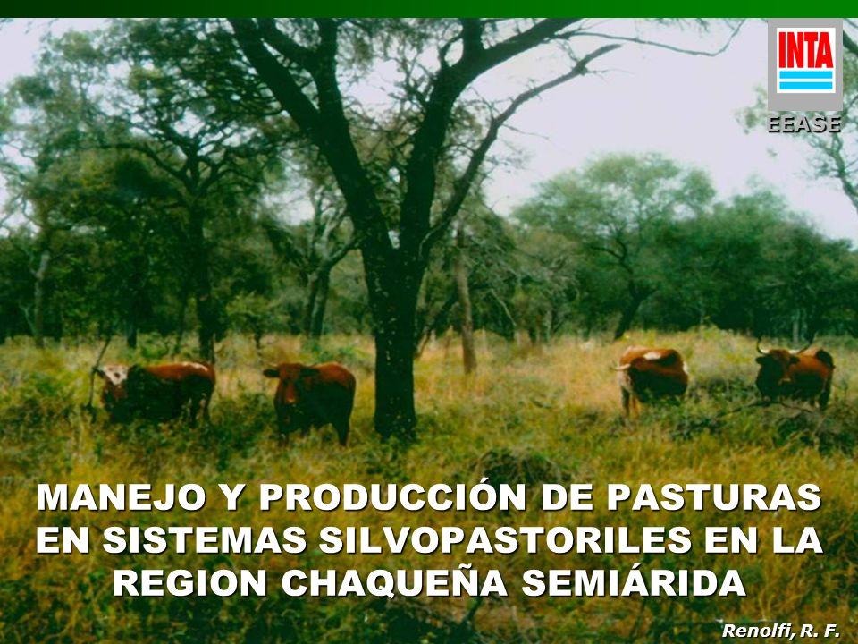 MANEJO Y PRODUCCIÓN DE PASTURAS EN SISTEMAS SILVOPASTORILES EN LA REGION CHAQUEÑA SEMIÁRIDA Renolfi, R. F. EEASE