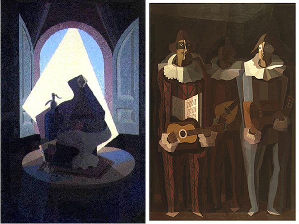 Emilio Pettoruti La última serenata 1937 Pablo Picasso Tres músicos 1921
