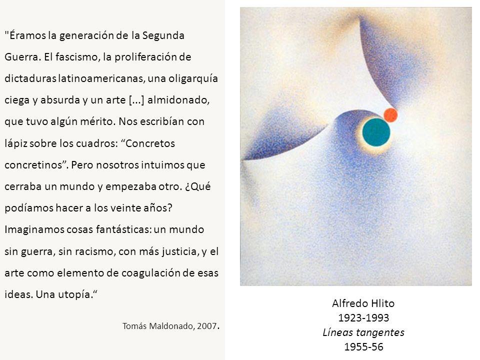 Rhod Rothfuss Pintura Madí o persistencia de un contorno Madí 1946 Esmalte s/ madera terciada 44 x 84 cm.