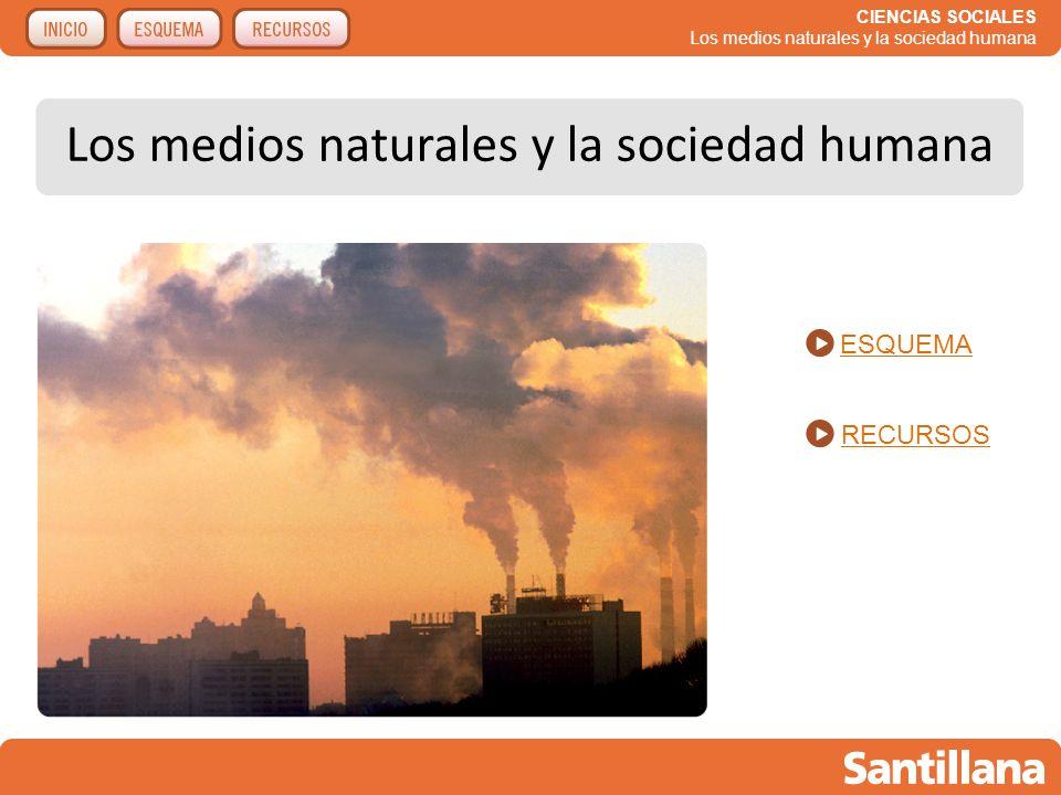 CIENCIAS SOCIALES Los medios naturales y la sociedad humana Recursos para la explicación de la unidad La acción humana sobre el medio natural.