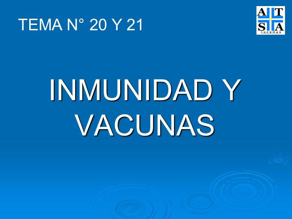 INMUNIDAD Y VACUNAS TEMA N° 20 Y 21