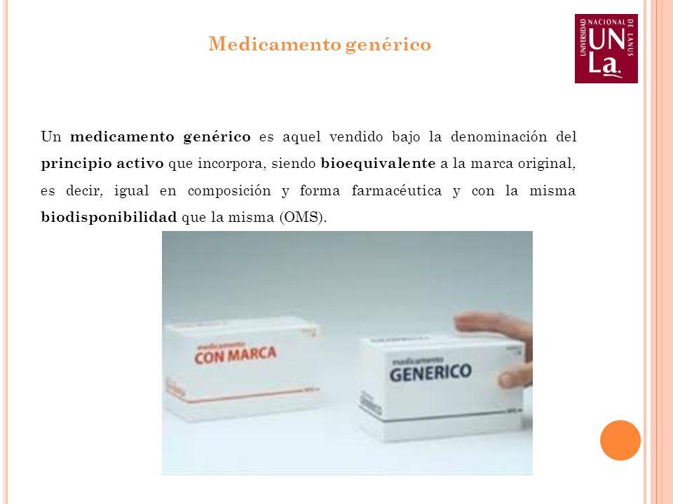 Un medicamento genérico es aquel vendido bajo la denominación del principio activo que incorpora, siendo bioequivalente a la marca original, es decir,