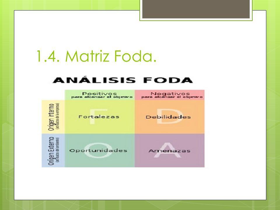 1.4. Matriz Foda.