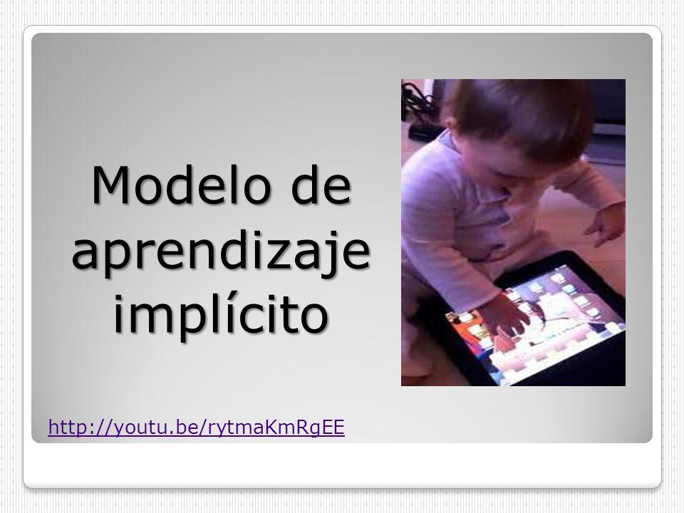 Modelo de aprendizajeimplícito http://youtu.be/rytmaKmRgEE