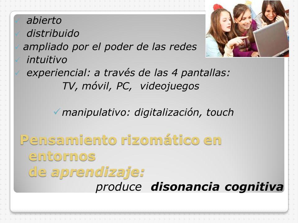 Disonancia cognitiva en entornos de aprendizaje Desde las TIC (Tecnologías de la información y la comunicación) a las TAC (Tecnologías del aprendizaje y el conocimiento) hacia las TEP (Tecnologías del empoderamiento y la participación).