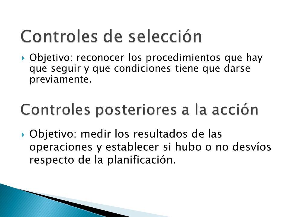 Objetivo: reconocer los procedimientos que hay que seguir y que condiciones tiene que darse previamente. Objetivo: medir los resultados de las operaci