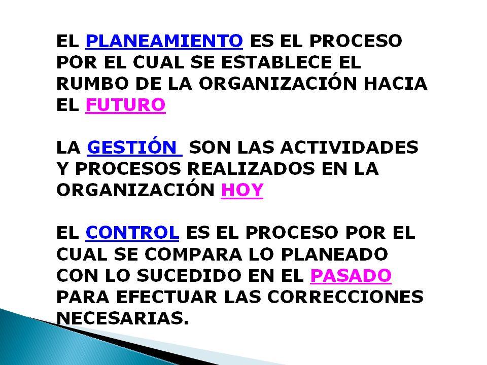 Controles directivos Controles De si/no Insumos Procesamiento Producción Controles Anteriores A la acción Controles Posteriores A la acción Información Medida Correctiva