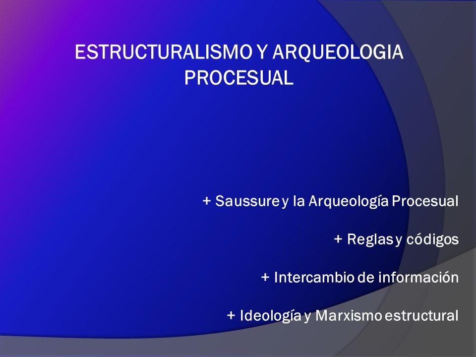 NUEVE PUNTOS PARA RESUMIR LA RELACION ARQUEOLOGIA PROCESUAL - ESTRUCTURALISMO 1.Influencia del Estructuralismo en las ciencias humanas.