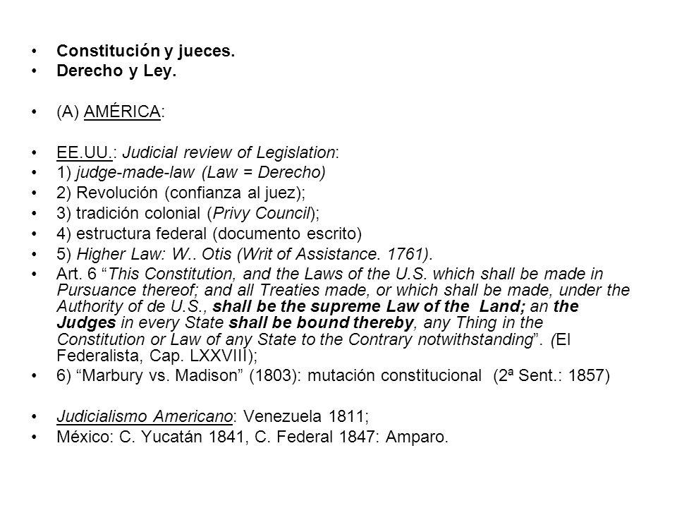 El fallo Marbury vs.Madison (1803) Corte Suprema de los Estados Unidos de América.