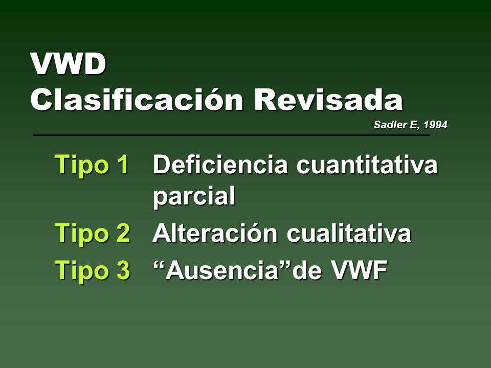VWD Genética VWFCromosoma 12 (12p12 12pter)