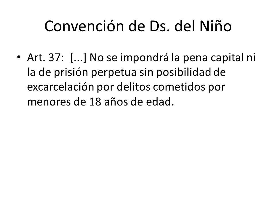 Convención de Ds. del Niño Art.