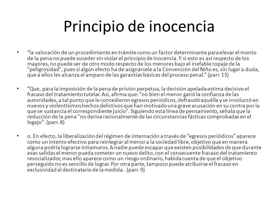 Principio de inocencia la valoración de un procedimiento en trámite como un factor determinante para elevar el monto de la pena no puede suceder sin violar el principio de inocencia.