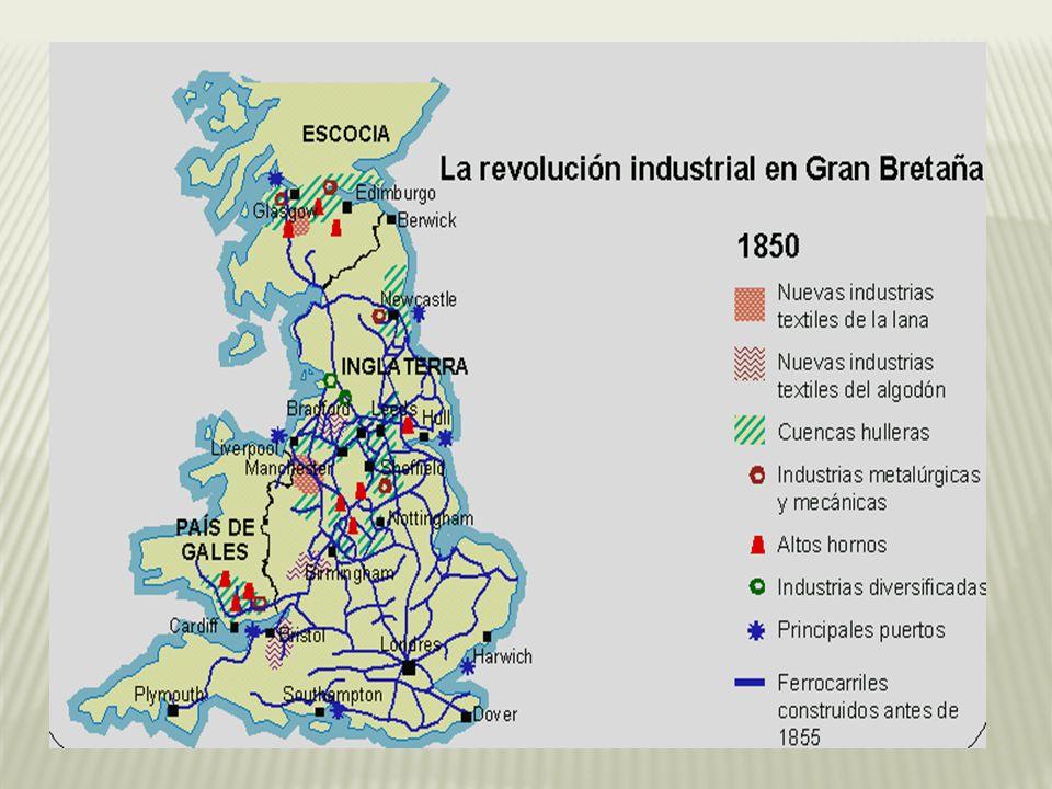 Inglaterra fue el primer país del mundo en experimentar la revolución industrial.