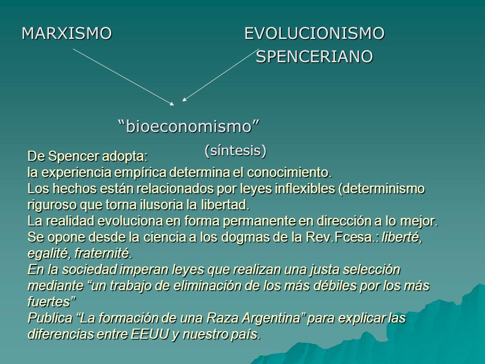 De Spencer adopta: la experiencia empírica determina el conocimiento. Los hechos están relacionados por leyes inflexibles (determinismo riguroso que t