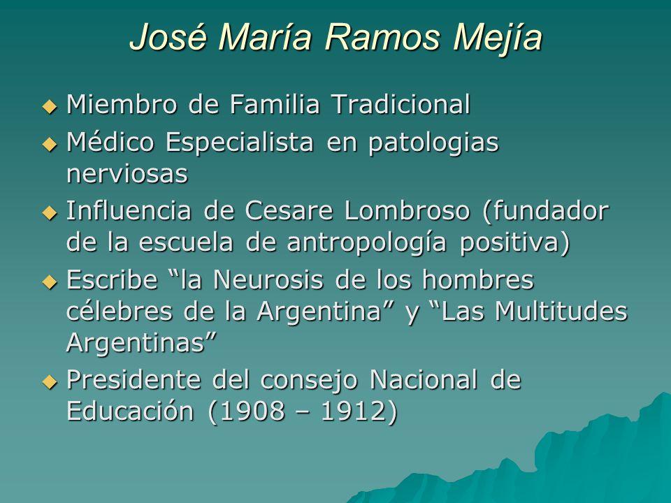 José María Ramos Mejía Miembro de Familia Tradicional Miembro de Familia Tradicional Médico Especialista en patologias nerviosas Médico Especialista e