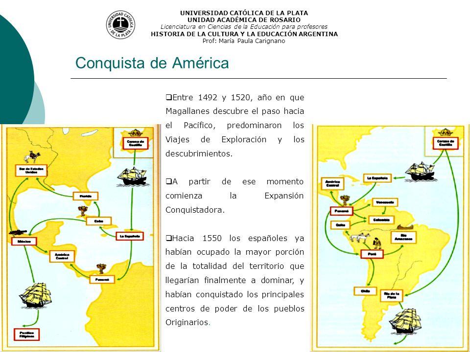 Conquista de América UNIVERSIDAD CATÓLICA DE LA PLATA UNIDAD ACADÉMICA DE ROSARIO Licenciatura en Ciencias de la Educación para profesores HISTORIA DE