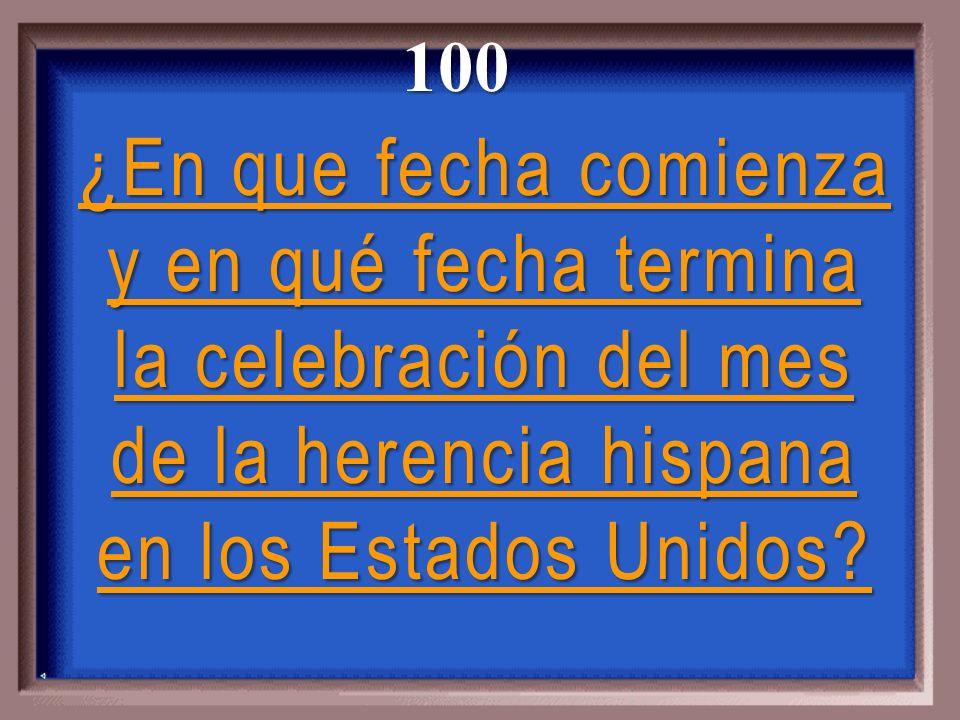 ¿En que fecha comienza y en qué fecha termina la celebración del mes de la herencia hispana en los Estados Unidos.