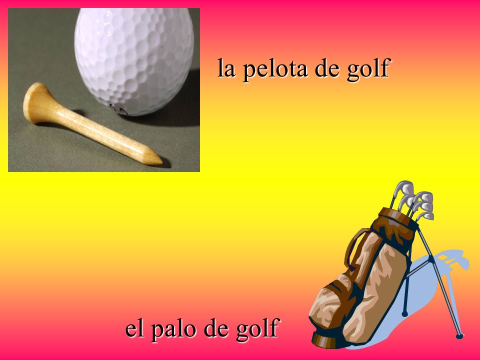 la pelota de golf el palo de golf