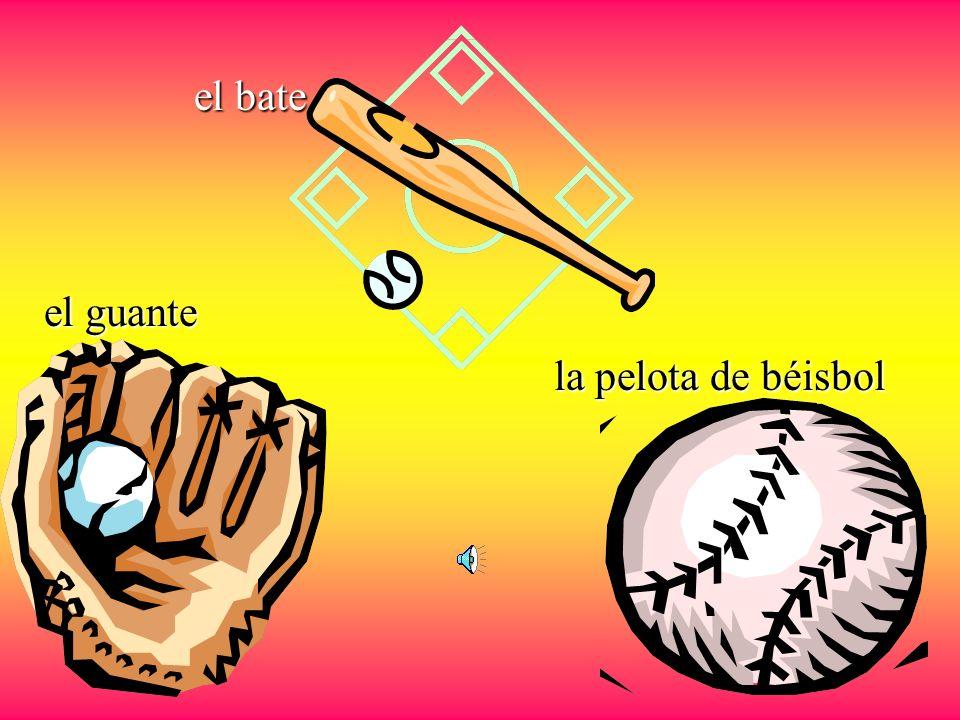 el béisbol el jugador de béisbol El guante La gorra