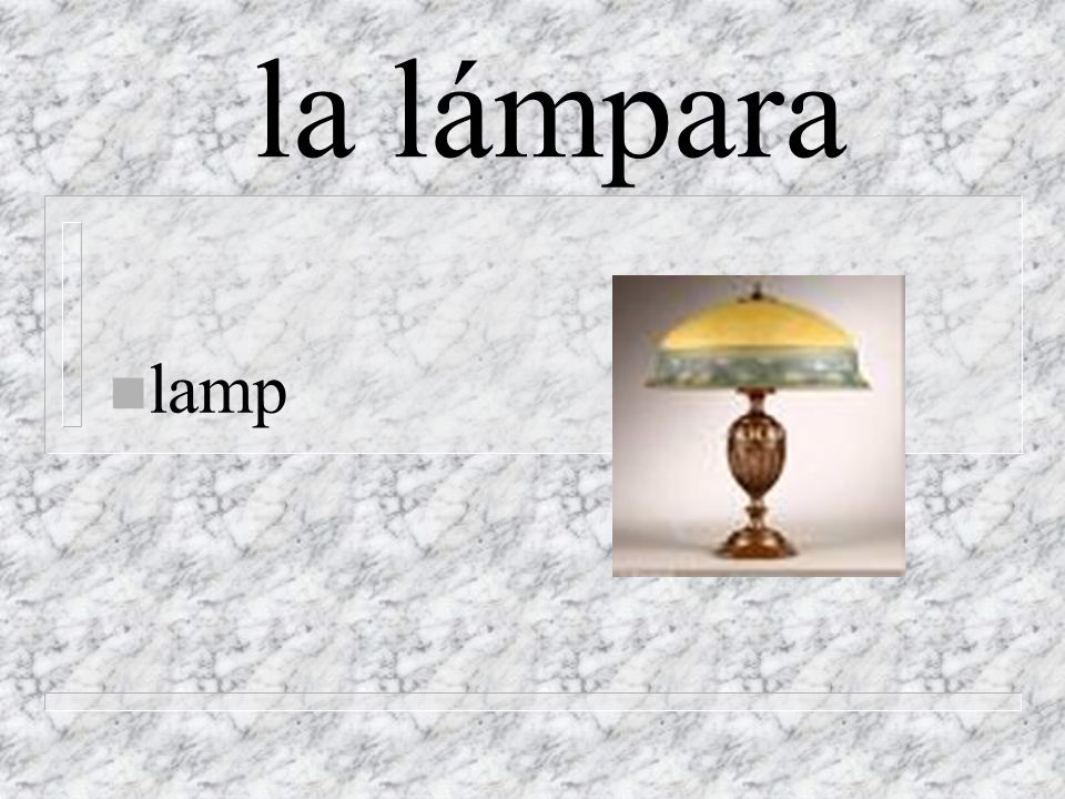 la lámpara n lamp